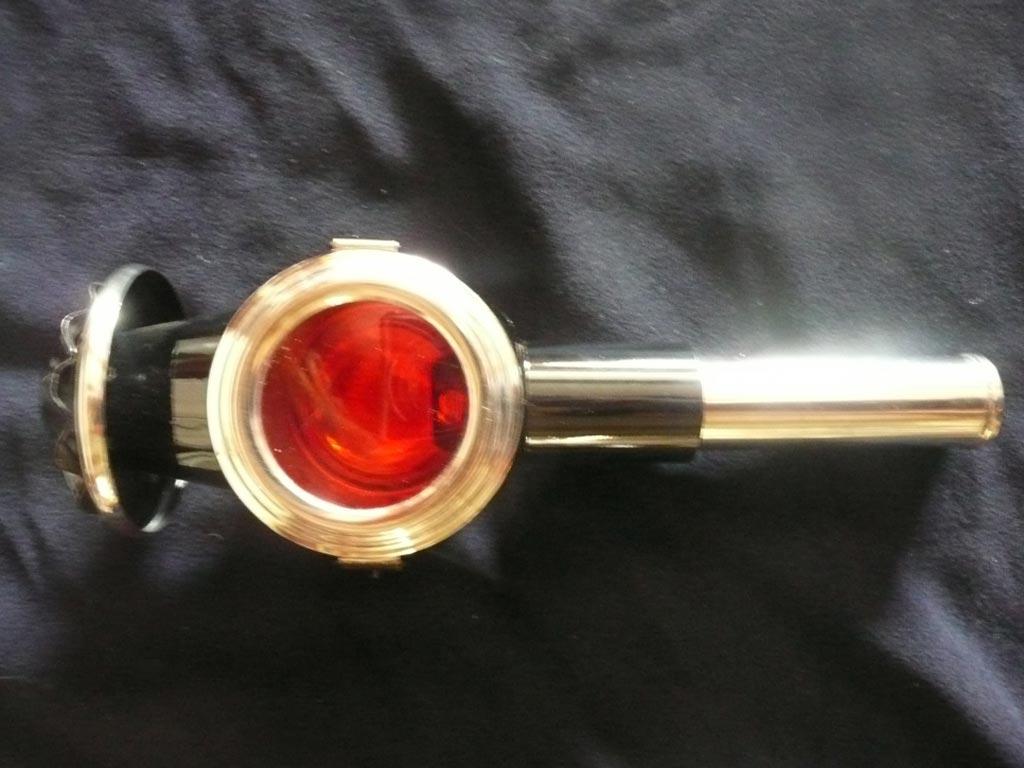Kutschenlampe für hinten mit rotem Glas
