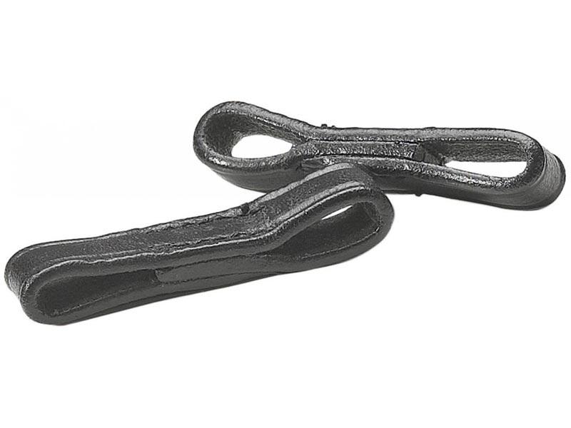 Knebeltrensenschlaufen, schwarz